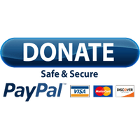 Donate button featuring paypal, Visa, Master Card, and Discover